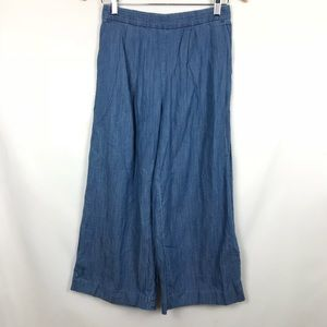 NWT J Crew Blue Flare Crop Causal Pants